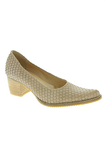 pinto di blu chaussures femme de couleur beige