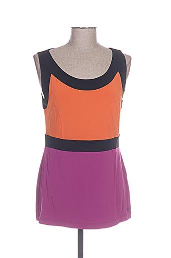 angelo marani t-shirts femme de couleur violet