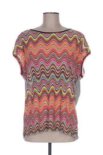 cap juluca t-shirts femme de couleur orange