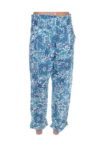Pantalon casual bleu CHRISTOPHE SAUVAT pour femme
