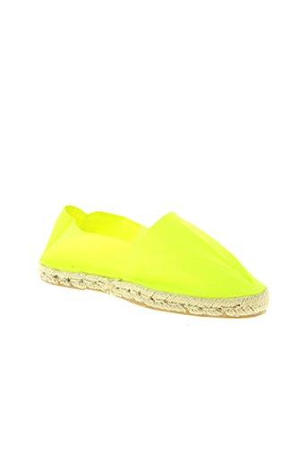 la maison de l'espadrille chaussures femme de couleur jaune