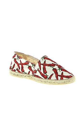 la maison de l'espadrille chaussures femme de couleur rouge