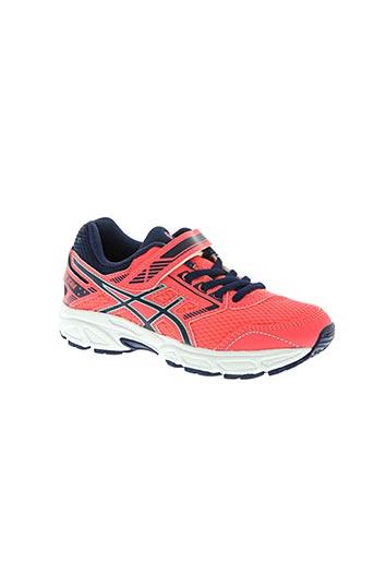 asics chaussures fille de couleur rose