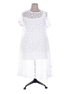 Robe longue blanc GERSHON BRAM pour femme