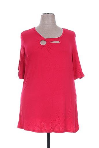 jean marc philippe t-shirts femme de couleur rouge