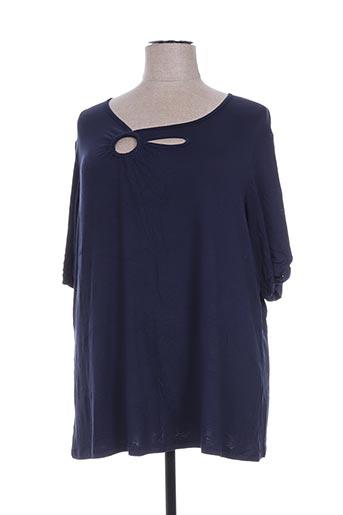 jean marc philippe t-shirts femme de couleur bleu