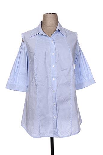 jean marc philippe chemises femme de couleur bleu