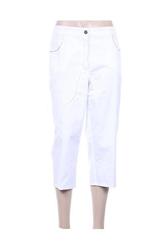 adelina by scheiter pantacourts femme de couleur blanc