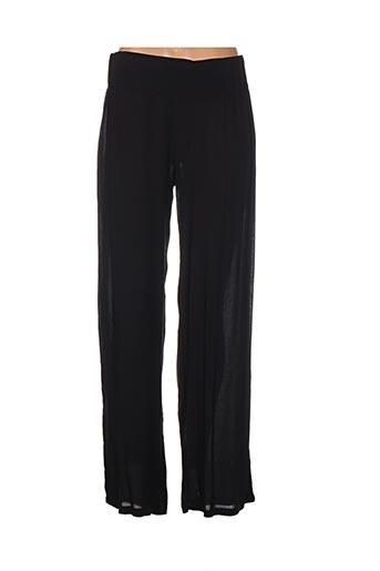 la stampa pantalons femme de couleur noir