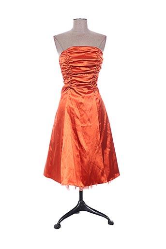 juju & christine robes femme de couleur orange