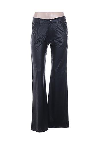 feeling pantalons femme de couleur noir