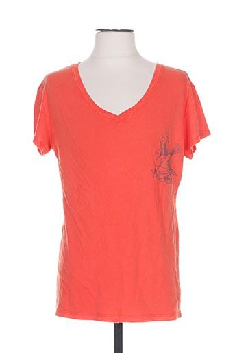 T-shirt manches courtes orange ED HARDY pour homme