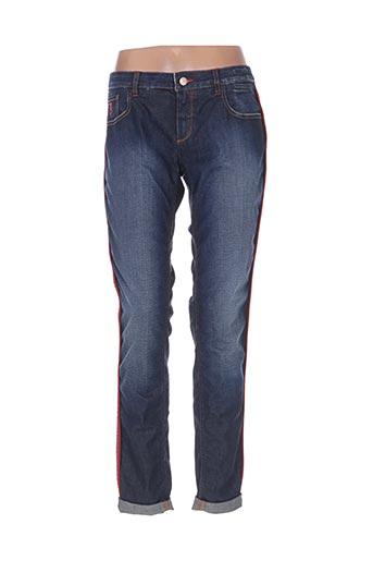 Jeans coupe droite bleu BARB'ONE pour femme