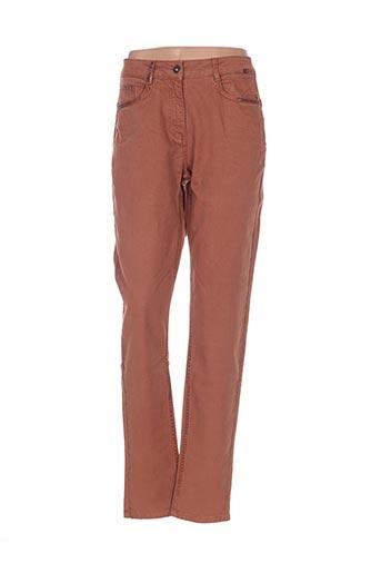 Jeans coupe slim marron SANDWICH pour femme