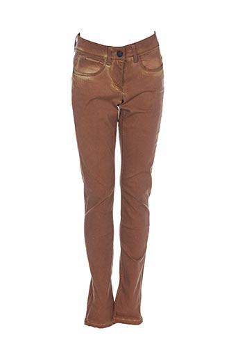 Pantalon casual marron SANDWICH pour femme