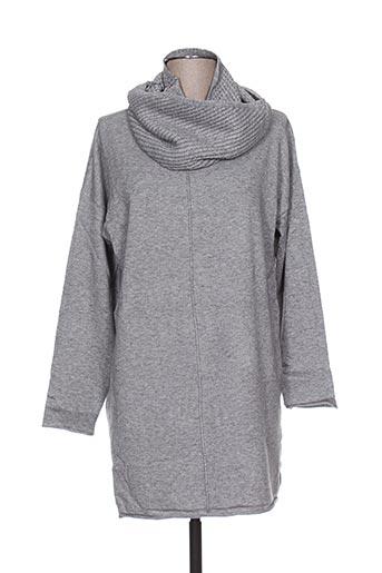 Pull col rond gris AMO & ROMA pour femme