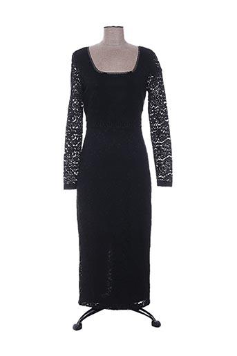 Robe longue noir TWIN-SET SIMONA BARBIERI pour femme