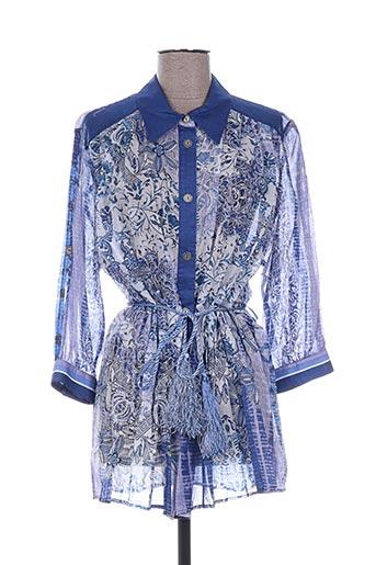 giani f chemises femme de couleur bleu
