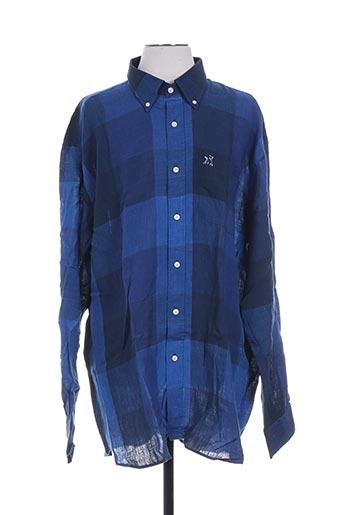 jezequel chemises homme de couleur bleu