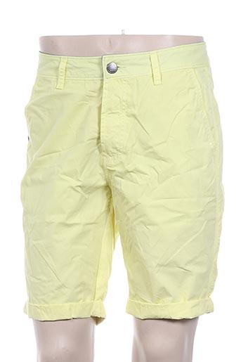 kaporal shorts / bermudas homme de couleur jaune