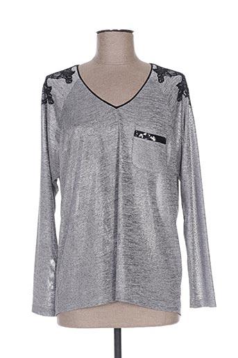 pause cafe t-shirts femme de couleur gris