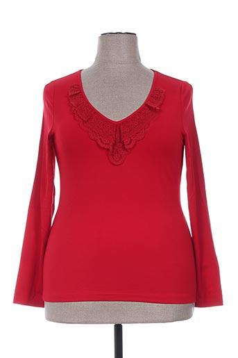 pause cafe t-shirts femme de couleur rouge
