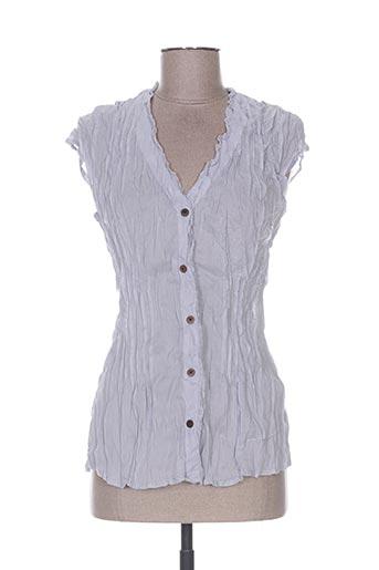 too katai chemises femme de couleur bleu