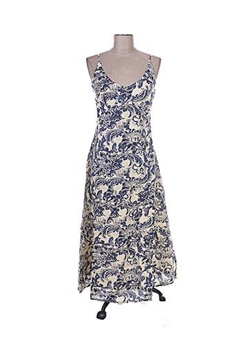 Robe mi-longue bleu CHADIA pour femme