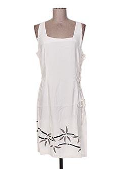 Robe courte blanc GARUDA GARUZO pour femme