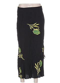 Jupe longue noir GARUDA GARUZO pour femme