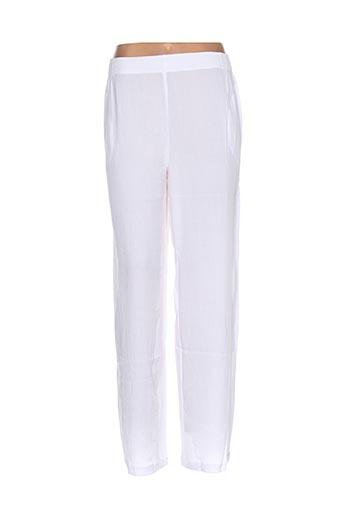 garuda garuzo pantalons femme de couleur blanc