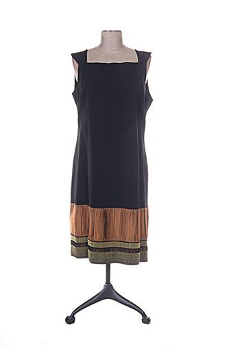 Robe mi-longue noir ELIXIR pour femme