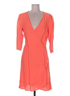Robe mi-longue orange ADOREE pour femme