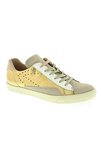zero centcinq chaussures femme de couleur jaune