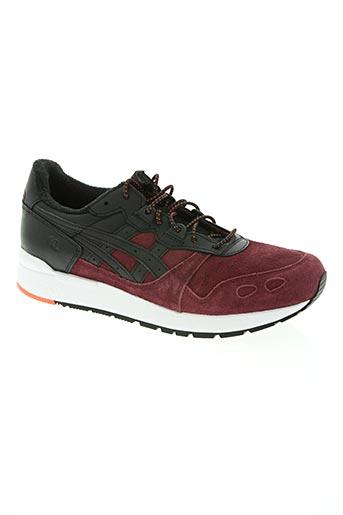 asics chaussures homme de couleur rouge