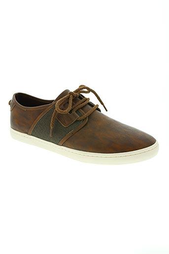 armistice chaussures homme de couleur marron
