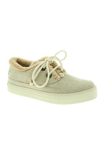 armistice chaussures femme de couleur beige