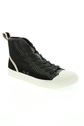 patriotic chaussures femme de couleur noir