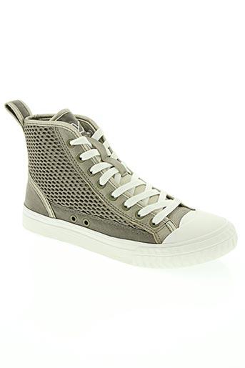 patriotic chaussures femme de couleur gris