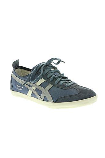 onitsuka tiger chaussures unisexe de couleur bleu