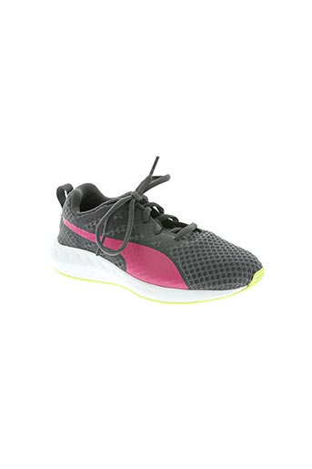 puma chaussures fille de couleur gris
