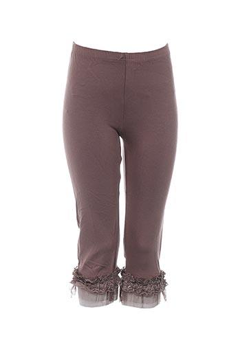 molly bracken pantalons fille de couleur marron