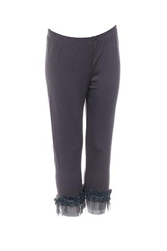 molly bracken pantalons fille de couleur gris