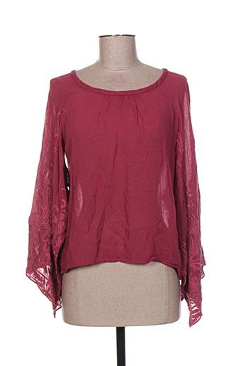 deha chemises femme de couleur rouge