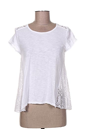T-shirt manches courtes blanc DEHA pour femme