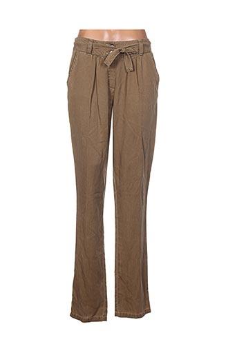 bleu de sym pantalons femme de couleur marron