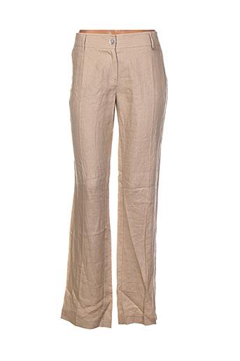 Pantalon casual beige ELO pour femme