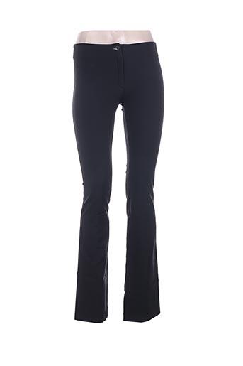 Pantalon casual noir IDSENS pour femme