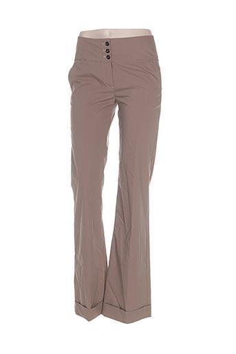 elo pantalons femme de couleur marron