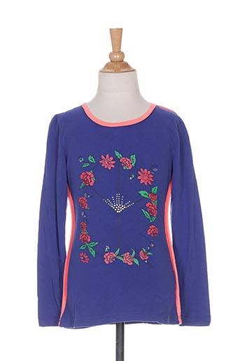 mini mignon t-shirts fille de couleur bleu